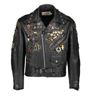 Leather rockers jacket, 1980s. ©Westminster Menswear Archive