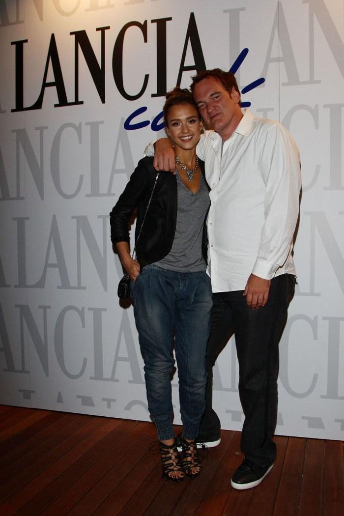 Jessica Alba and Quentin Tarantino