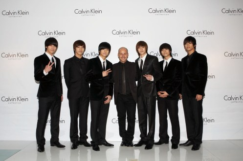 Italo Zucchelli with the 2PM Boy Band