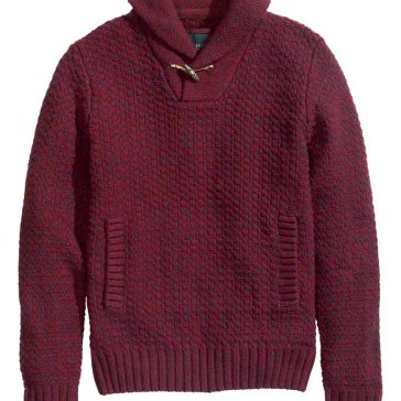 HM Burgundy knit sweater_$49.95