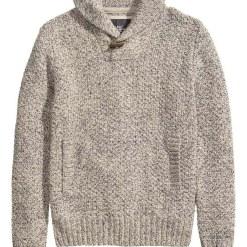 HM Grey knit sweater_$49.95