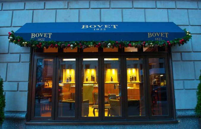 Exterior view of the BOVET 1822 Boutique at the Ritz Carlton, New York.