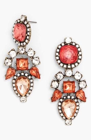 Aztec Mixed Stone Drop Earrings_$38_Item 347072