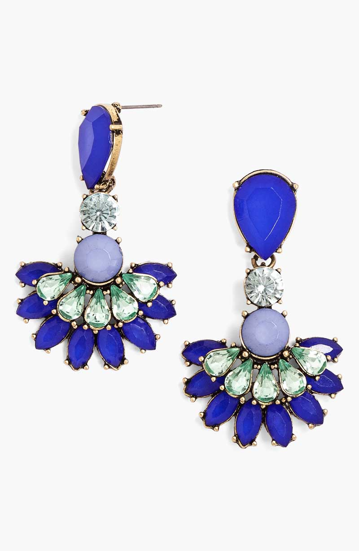 Crystal Fan Drop Earring_$34_Item 348573