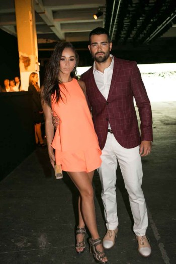 Carla Santana and Jesse Metcalfe wearing Tiger of Sweden