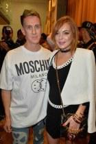 Jeremy Scott and Lindsay Lohan