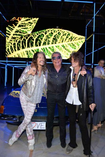 Joe Perry and Steven Tyler with Roberto Cavalli MS15