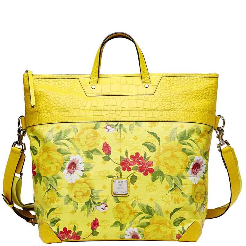 Blume Paradiso Flower Tote Yellow