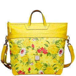 Blume Paradiso Flower Tote Yellow