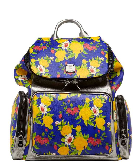 Blume Paradiso Flower Visetos Backpack Blue Silver