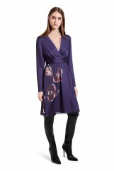 When combined with the bold sophistication of over-the-knee boots, this lady-like dress takes on a modern appeal. The eye-catching orchid print and deep purple hue adds a hint of the glamour. LOOK 14 Dress in Purple Orchid Print, $49.99 Over-the-Knee Boot in Black, $79.99