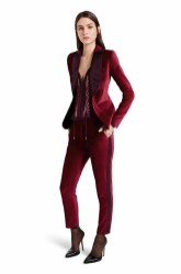 The red velvet tuxedo pant and matching blazer make a glamorous statement, amplified by the laidback feel of the blouse. The addition of ankle strap heels elevates the elegance of this look. LOOK 21 Velvet Blazer in Ruby Red, $59.99** Embroidered Blouse in Red, $44.99** Velvet Ankle Tuxedo Pant in Red, $39.99** Ankle Strap Shoe in Black, $39.99* *TARGET.COM EXCLUSIVE ** AVAILABLE GLOBALLY ON NET-A-PORTER.COM