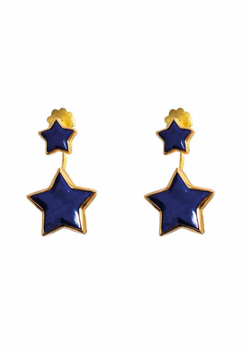ILU1245 Cassiopeia earrings Lapis Lazuli