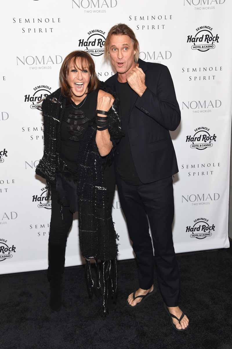 Donna Karan and Russell James