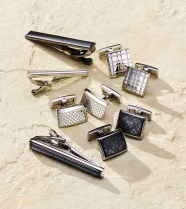 Ryan Seacret Distinction Cuff Links-$42.50-$45, Tie Clips-$29.50-$35