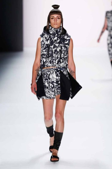 BERLIN, GERMANY - JULY 07: A model walks the runway at the Pearly Wong show during the Mercedes-Benz Fashion Week Berlin Spring/Summer 2016 at Brandenburg Gate on July 7, 2015 in Berlin, Germany. (Photo by Frazer Harrison/Getty Images for Mercedes-Benz)
