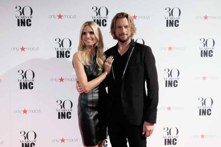 NEW YORK, NY - SEPTEMBER 10: Heidi Klum and Gabriel Aubry attend Heidi Klum + Gabriel Aubry's celebration of the launch of INC's 30th Anniversary Collection at IAC Building on September 10, 2015 in New York City. (Photo by Dimitrios Kambouris/Getty Images for Heidi Klum)