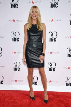 NEW YORK, NY - SEPTEMBER 10: Heidi Klum attends Heidi Klum + Gabriel Aubry's celebration of the launch of INC's 30th Anniversary Collection at IAC Building on September 10, 2015 in New York City. (Photo by Dimitrios Kambouris/Getty Images for Heidi Klum)