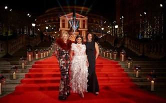 Nadja Swarovski, Dame Natalie Massenet and Caroline Rush CBE at The Fashion Awards 2016 (Zoe Lower, BFC)