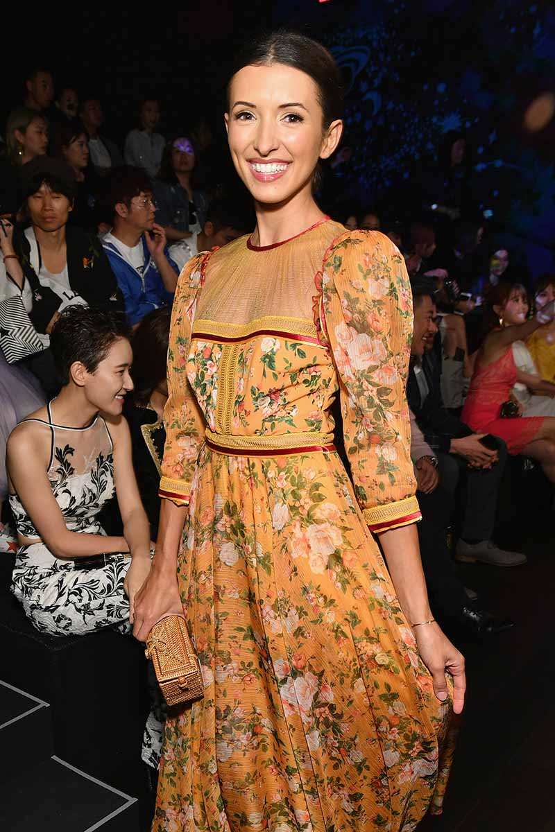 NEW YORK, NY - SEPTEMBER 07: Actress India de Beaufort attends the Tadashi Shoji fashion show during New York Fashion Week: The Shows at Gallery 1, Skylight Clarkson Sq on September 7, 2017 in New York City. (Photo by Dia Dipasupil/Getty Images For Tadashi Shoji)