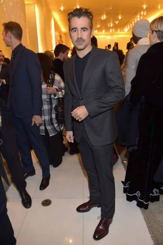 BEVERLY HILLS, CA - MARCH 03: Colin Farrell attends Giorgio Armani's celebration of 'The Shape of Water' hosted by Roberta Armani on March 3, 2018 in Beverly Hills, California. (Photo by Donato Sardella/Getty Images for Giorgio Armani)
