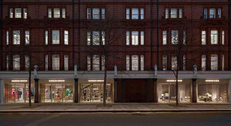 Facade - Giorgio Armani and Armani/Casa London