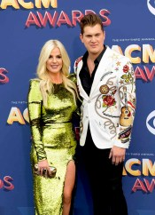 The 53rd Academy of Country Music Awards red carpet is held at the MGM Grand Garden Arena on the Las Vegas Strip. Here singer/songwriter and nominee for Album of the Year Jon Pardi and girlfriend Summer Duncan walk the ACM red carpet. Sunday, April 15, 2018. CREDIT: Glenn Pinkerton/Las Vegas News Bureau