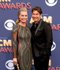 The 53rd Academy of Country Music Awards red carpet is held at the MGM Grand Garden Arena on the Las Vegas Strip. Here married actors Rebecca Romijn and Jerry O'Connell walk the ACM red carpet together. Sunday, April 15, 2018. CREDIT: Glenn Pinkerton/Las Vegas News Bureau