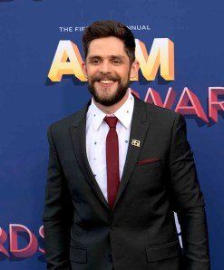 The 53rd Academy of Country Music Awards red carpet is held at the MGM Grand Garden Arena on the Las Vegas Strip. Here singer/songwriter and nominee for Male Vocalist of the Year, Album of the Year, Vocal Event of the Year and Music Video of the year Thomas Rhett walks the ACM red carpet. Sunday, April 15, 2018. CREDIT: Glenn Pinkerton/Las Vegas News Bureau