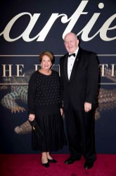 CANBERRA, AUSTRALIA - MARCH 27: Her Excellency Lady Cosgrove and His Excellency Sir Peter Cosgrove AK MC (Retd) attend the Cartier: The Exhibition Black Tie Dinner at the National Gallery of Australia on March 27, 2018 in Canberra, Australia. (Photo by Cole Bennetts/Getty Images)