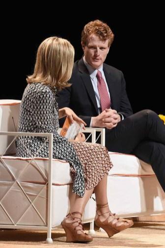 (L-R) CEO, Tory Burch, and Founder, Tory Burch Foundation, Tory Burch, and Representative Joe Kennedy III (D-MA)
