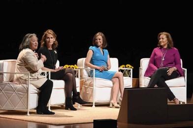 (L-R) Tina Tchen, Perri Peltz, Maria Teresa Kumar, and Michele Norris