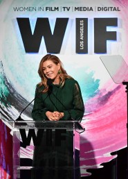 BEVERLY HILLS, CA - JUNE 13: Ellen Pompeo speaks onstage during the Women In Film 2018 Crystal + Lucy Awards presented by Max Mara,Lancôme and Lexus at The Beverly Hilton Hotel on June 13, 2018 in Beverly Hills, California. (Photo by Emma McIntyre/Getty Images for Women In Film)