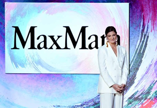 BEVERLY HILLS, CA - JUNE 13: Max Mara Vice President US Retail and Global Brand Ambassador Maria Giulia Maramotti speaks onstage during the Women In Film 2018 Crystal + Lucy Awards presented by Max Mara, Lancôme and Lexus at The Beverly Hilton Hotel on June 13, 2018 in Beverly Hills, California. (Photo by Emma McIntyre/Getty Images for Women In Film)