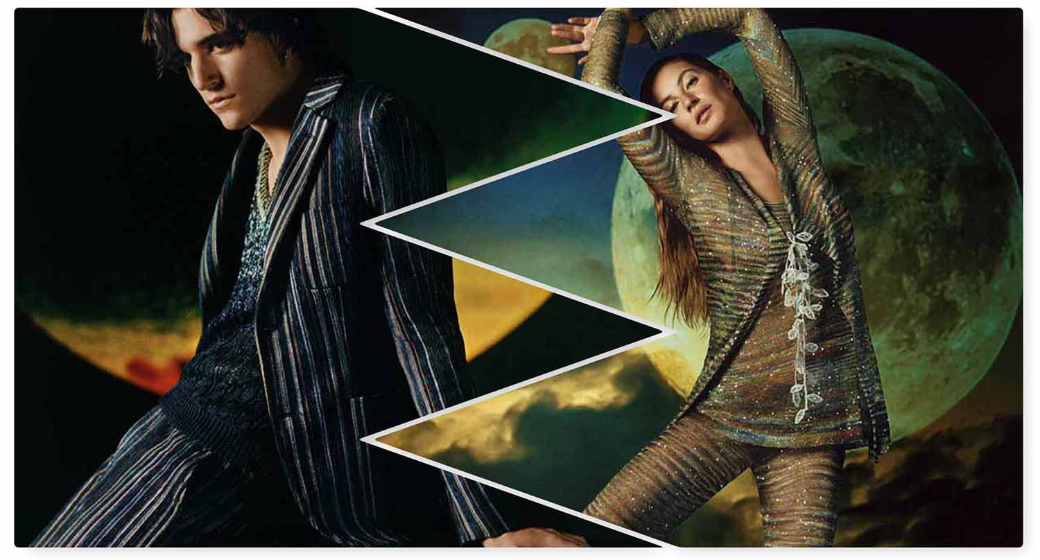 Gisele Bündchen and Tamino Amir Moharam Fouad Front Missoni Summer 2019 Campaign
