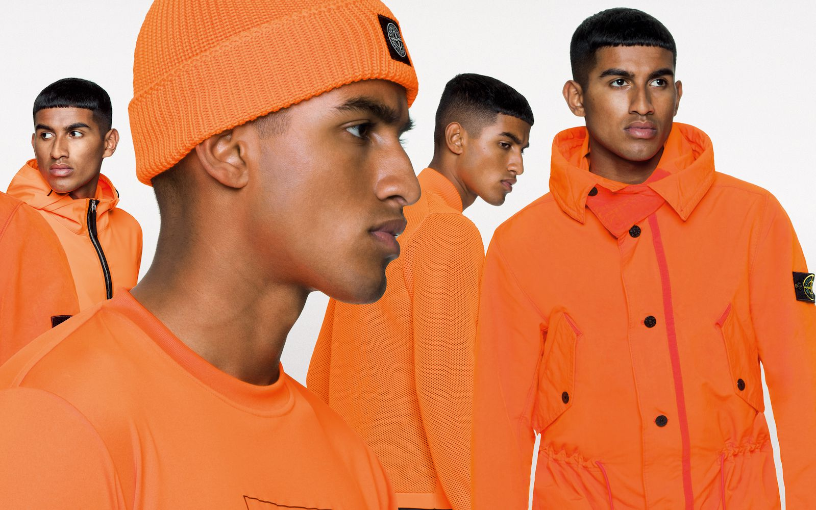 Stone Island Releases New Fluo Orange Range