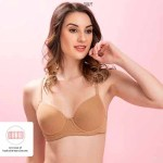 Cotton Padded Underwired Push-up T-shirt Bra