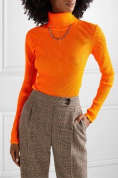 victoria-victoria-beckham-neon-ribbed-stretch-knit-turtleneck-top