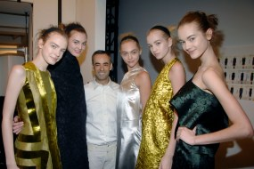 Francisco Costa with models