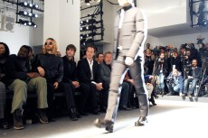 Kanye West, Jared Leto, Chace Crawford and Patrick Wilson sit front row