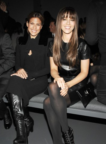 Eva Mendes and Kate Beckinsale at Calvin Klein Fall 2009