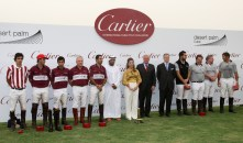 HRH Princess Haya Bint Al Hussein poses with the Qatar and Emirates NDB teams