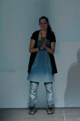 Krizia Robustella on the runway