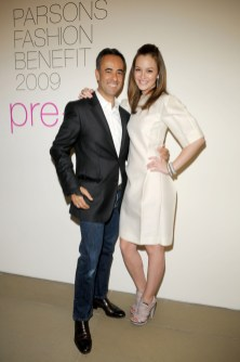 Francisco Costa and Leighton Meester