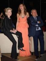 Sharon Stone, Sol Kerzner and Heather Kerzner