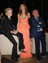 Sharon Stone, Sol Kerzner and Heather Kerzner