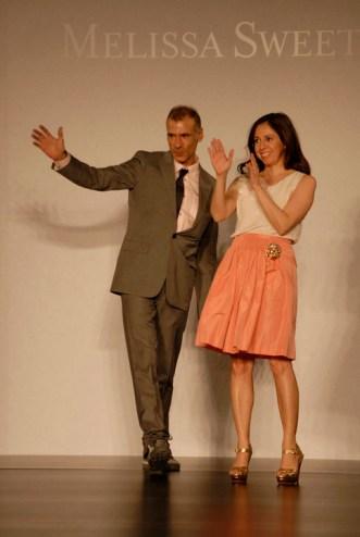 Antonio Gual and Lia Mcnairy on the runway