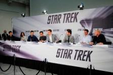 John Cho, Zoe Saldana, Zachary Quinto, J.J. Abrams, Chris Pine, Eric Bana, Karl Urban, Simon Pegg