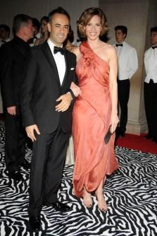 Francisco Costa and Hilary Swank