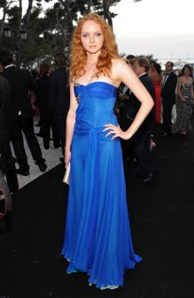 Lily Cole wearing Emilio Pucci